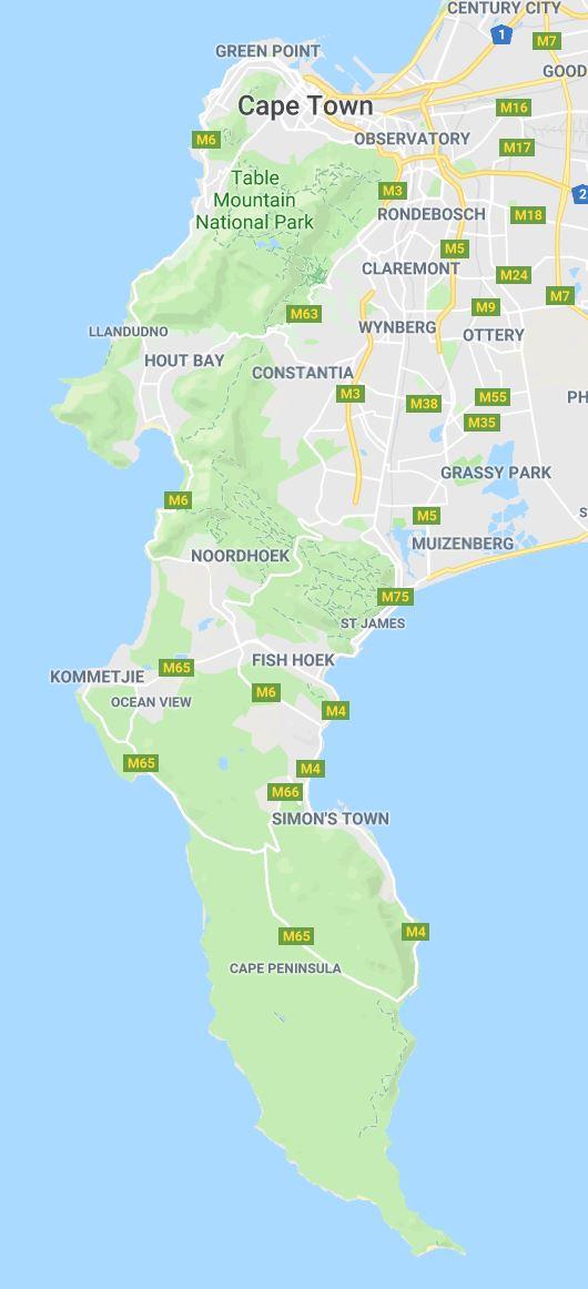 Cape of Good Hope map